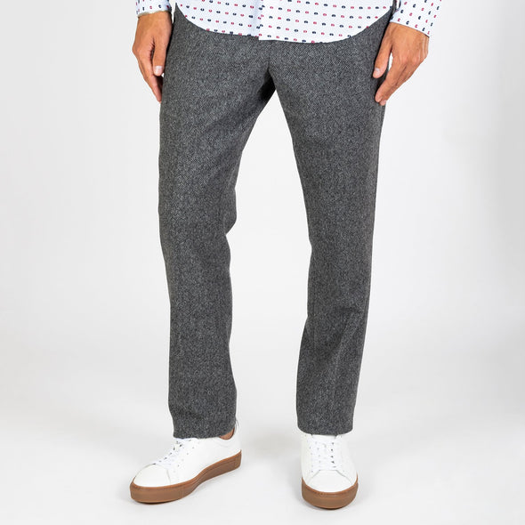 A smart-casual trouser in grey wool.