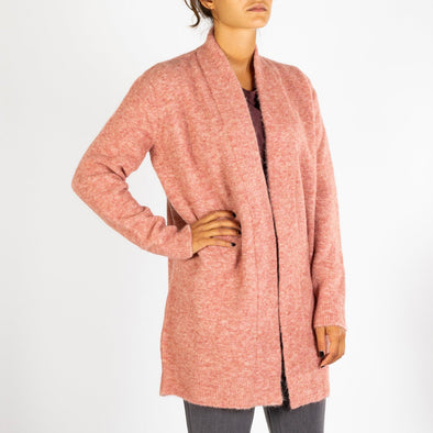 Dusty pink wrap around cardigan to keep you warm on those cold days.