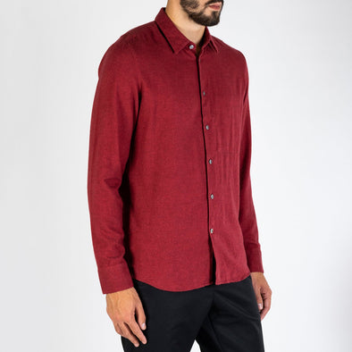 Finely combed Italian flannel with one inside chest pocket.