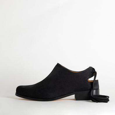 TFR Exclusive leather shoes in deep black.