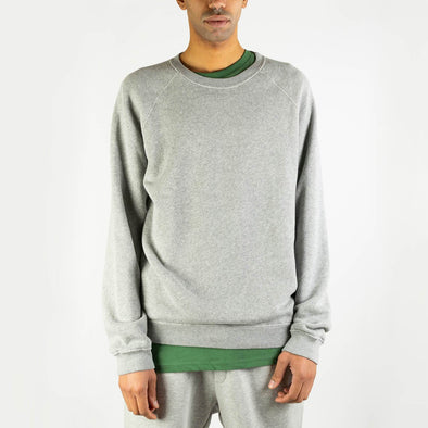 Long-sleeved sweatshirt in grey cotton.