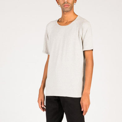 Minimalist grey cotton tee.