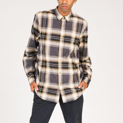 Multicolored oversized check flannel shirt.