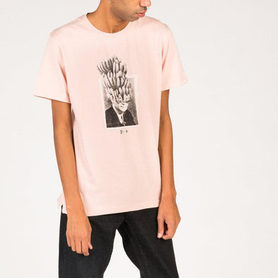 "Light pink sweatshirt with ""banana man"" exclusive photoprint by Erre Gálvez."