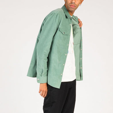 Green corduroy overshirt.
