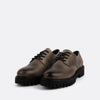 Derby shoes with black laces in 100% grey leather.