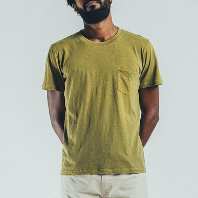 Reversible t-shirt in green.