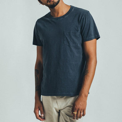 Reversible t-shirt in blue.
