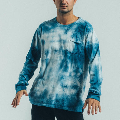 Tie dye longsleeve with chest pocket.