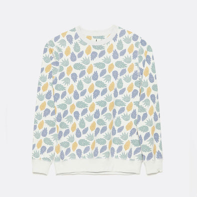 Regular fit organic cotton sweatshirt in blue with all over print.