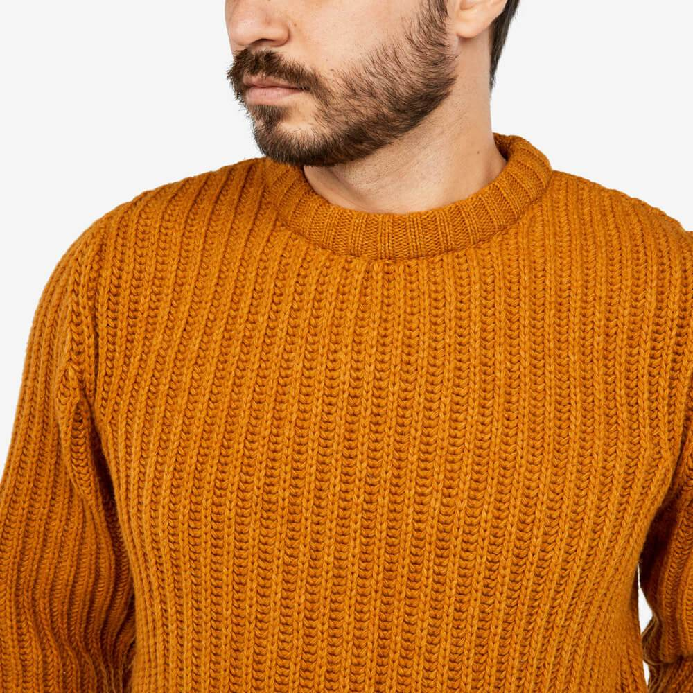 Super chunky ribbed jumper featuring contrast neck cuffs and hem.