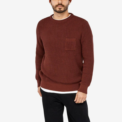 Fisherman inspired jumper with chest pocket.