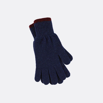 Lambwool navy blue gloves.