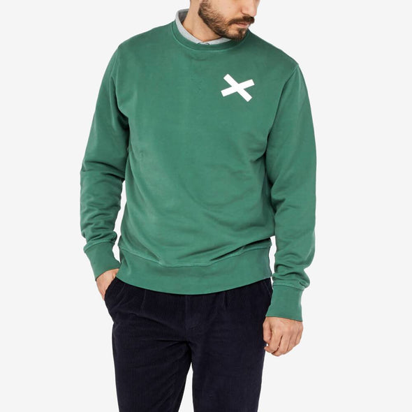 100% cotton sweatshirt with cross print on the chest.