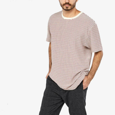 Relaxed fit striped t-shirt with contrasting neckband.