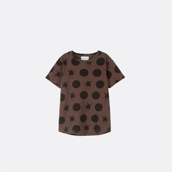 Short sleeved T-shirt with pattern.