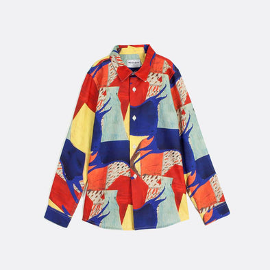 All over joyful color pattern shirt with regular fit.
