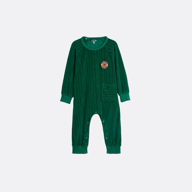 Green jumpsuit with change is coming patch.