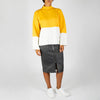 White/Yellow Knit