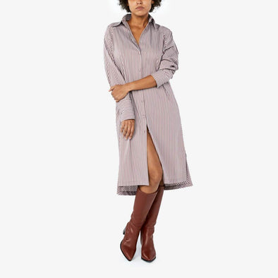Pinstripes Shirt Dress