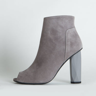 Diamond Peep Toe Boots