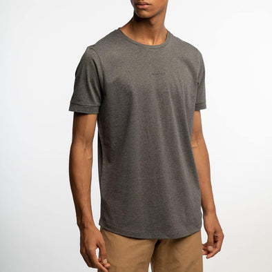 Relaxed fit grey t-shirt with logo chest print.
