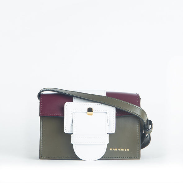 Mini classical bag with unconventional color combinations.
