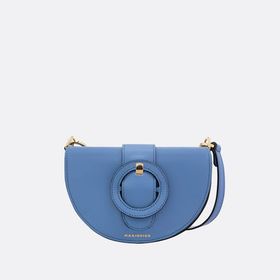Blue semi-circle shoulder bag