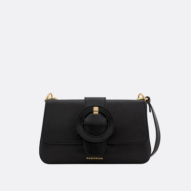 Black mini shoulder bag.