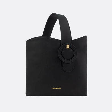 Black bag with a detachable strap.