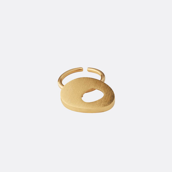 Handmade ring in gold plated silver.