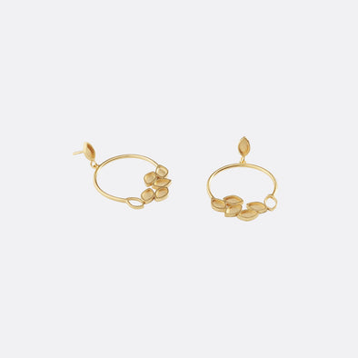 Handcrafted gold plated silver earrings.
