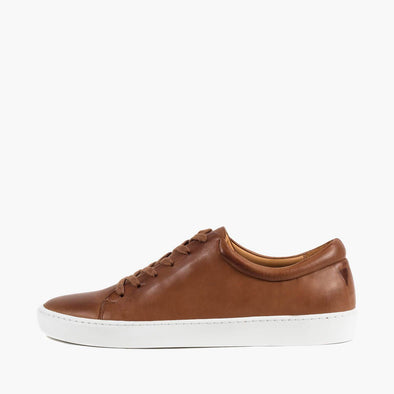 Sneakers in hazel brown calfskin leather.