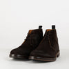 New progressive three eyelet chukka boots with smooth toe detailing.