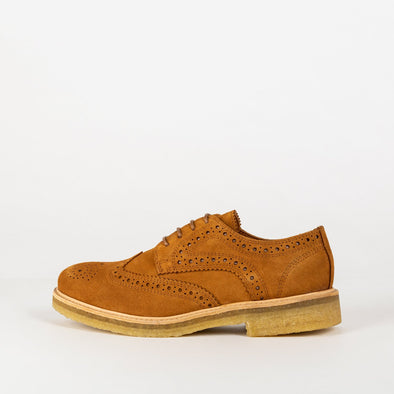 Noble crepe waxy suede derbies with a high impact leather covered padded sock.