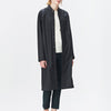 Black classic yet functional unisex raincoat inspired by the timeless mackintosh coat.