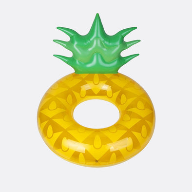 Pineapple pool ring float suitable for ages 6+.