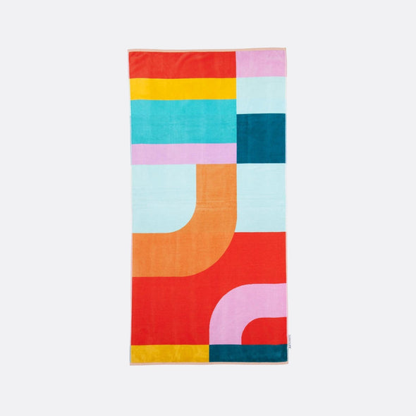 Multicolored luxurious Islabomba beach towel.