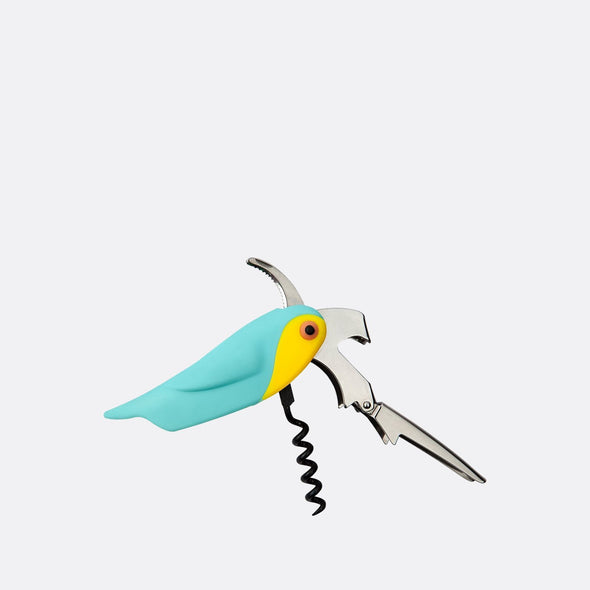 Macaw corkscrew bottle opener suitable for ages 14+.