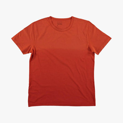 Relaxed fit red dregradé t-shirt.