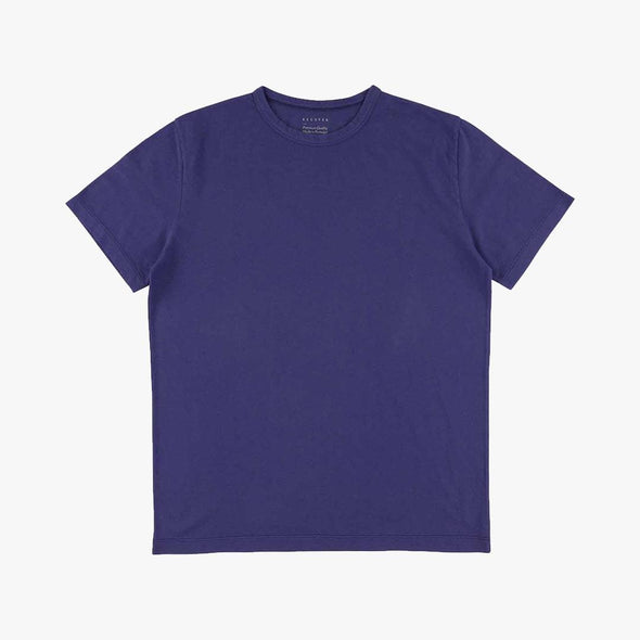 Relaxed fit blue t-shirt.