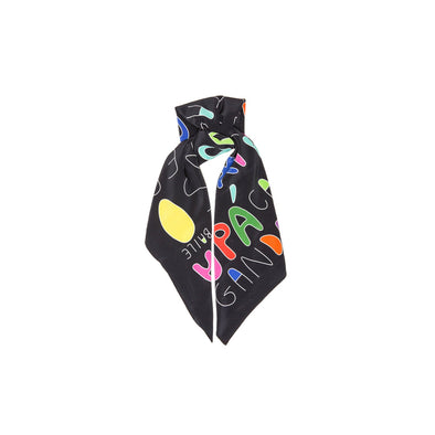 Pure silk scarf with digitally impressed illustration.