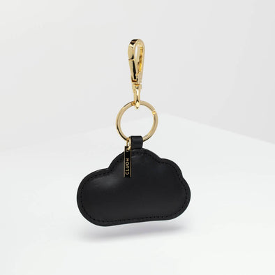 Black key ring with cloud shape.