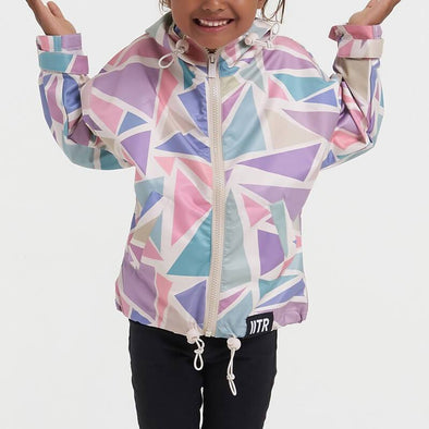 Multicolored unisex water resistant ecological jacket.