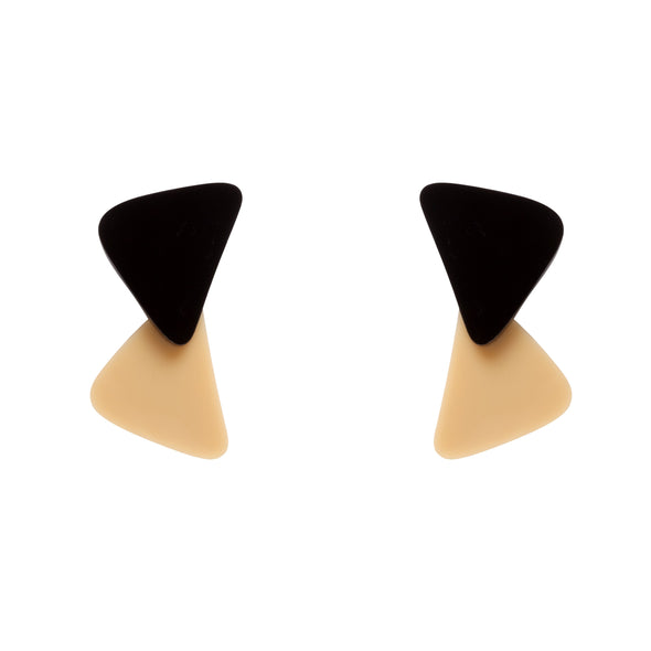 Original beige and black earrings to transform both your look and mood. Free shipping to selected European countries.