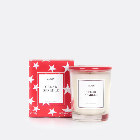 Cedar relaxing candle.