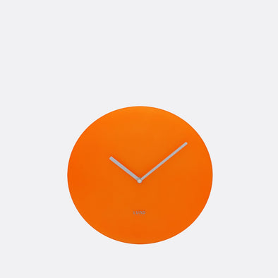 Neon orange 30cm wall clock.