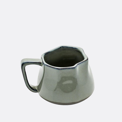 Sage colored orbit crinckle small mug.