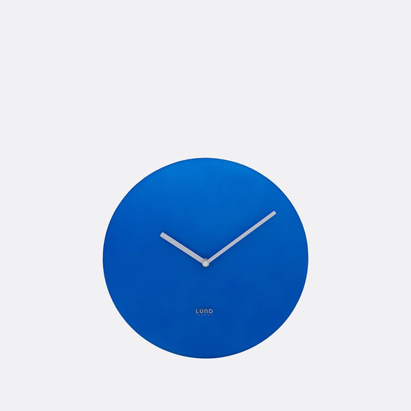 Neon blue 30cm wall clock.