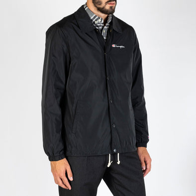 Water resistant coach jacket with a modern, closer to the body fit for a streamlined look.